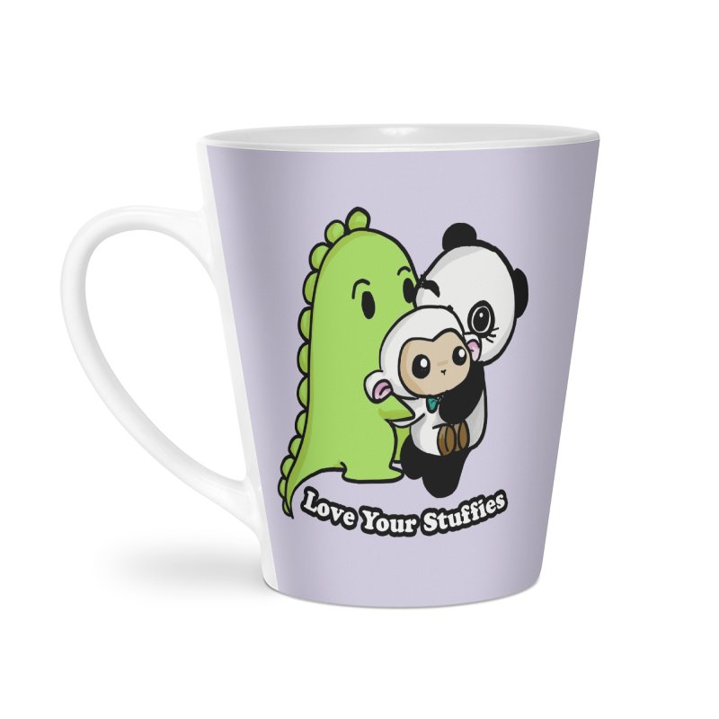 Love Your Stuffies Accessories Latte Mug by Dino & Panda Inc Artist Shop