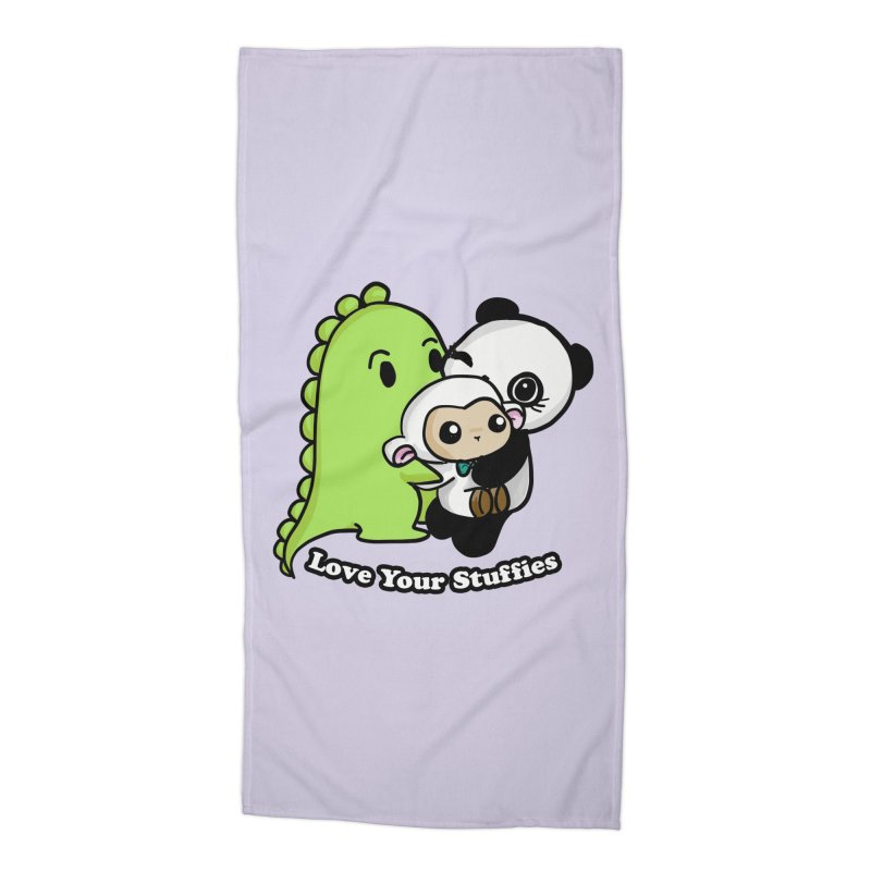 Love Your Stuffies Accessories Beach Towel by Dino & Panda Inc Artist Shop