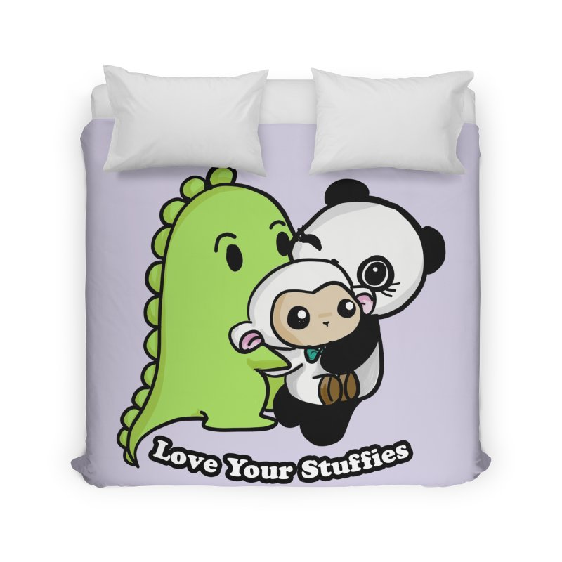 Love Your Stuffies Home Duvet by Dino & Panda Inc Artist Shop