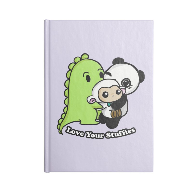 Love Your Stuffies Accessories Lined Journal Notebook by Dino & Panda Inc Artist Shop