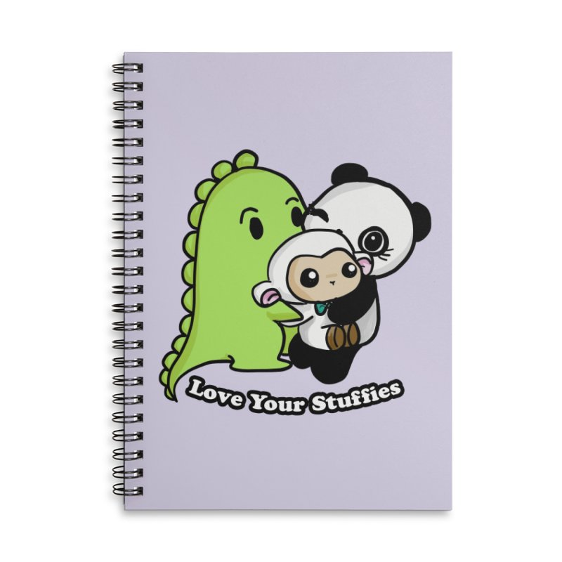 Love Your Stuffies Accessories Lined Spiral Notebook by Dino & Panda Inc Artist Shop