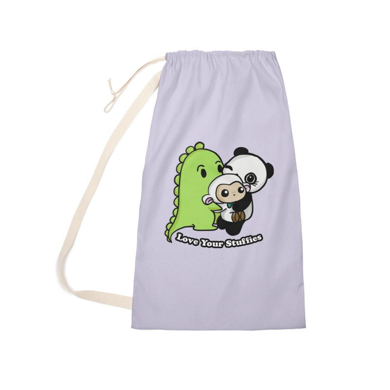 Love Your Stuffies Accessories Laundry Bag Bag by Dino & Panda Inc Artist Shop