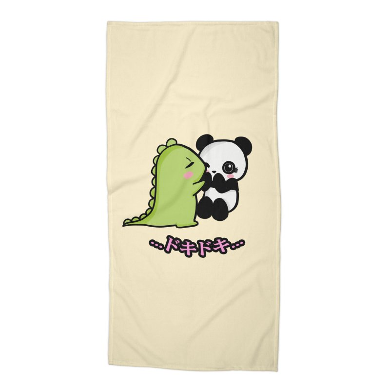 Doki Doki Accessories Beach Towel by Dino & Panda Inc Artist Shop