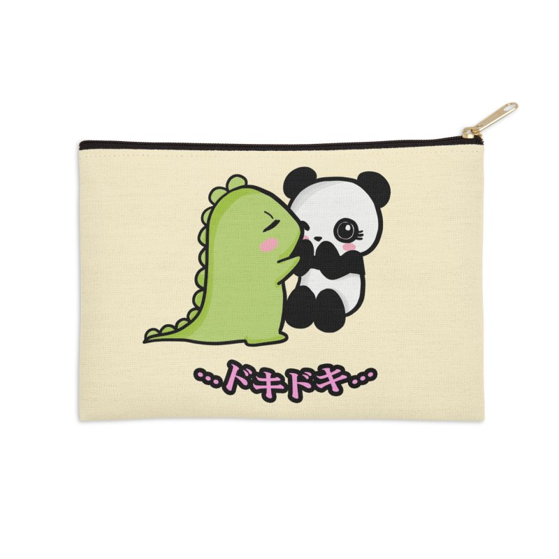 Doki Doki Accessories Zip Pouch by Dino & Panda Inc Artist Shop
