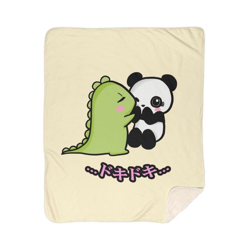 Doki Doki Home Sherpa Blanket Blanket by Dino & Panda Inc Artist Shop