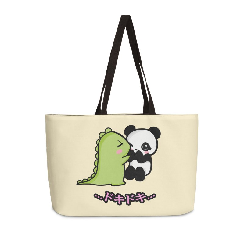 Doki Doki Accessories Weekender Bag Bag by Dino & Panda Inc Artist Shop