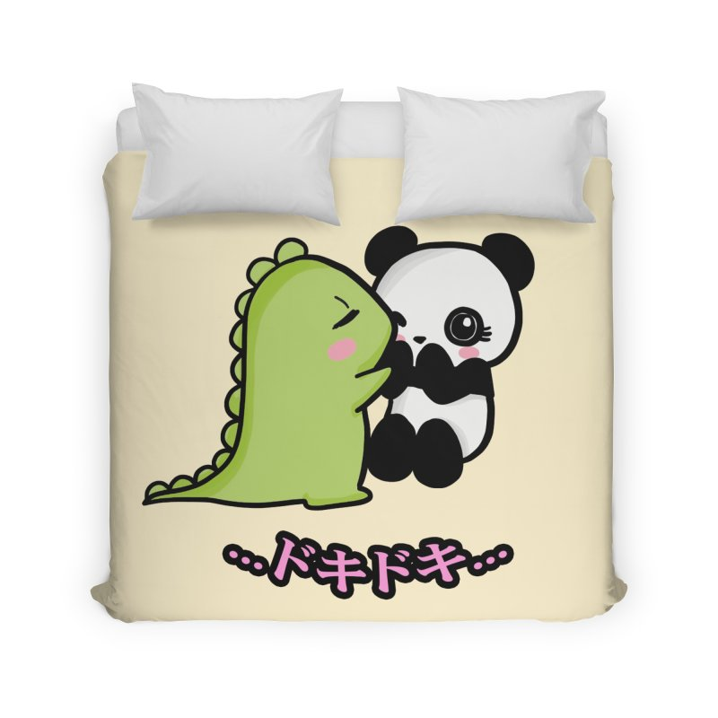 Doki Doki Home Duvet by Dino & Panda Inc Artist Shop