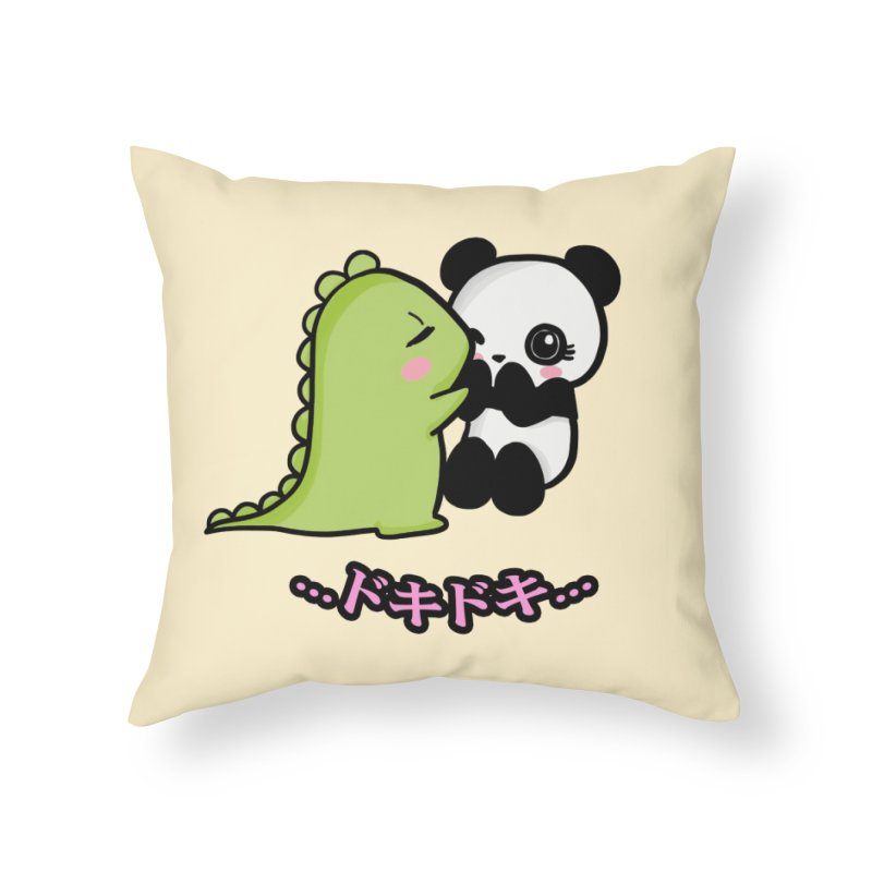 Doki Doki Home Throw Pillow by Dino & Panda Inc Artist Shop