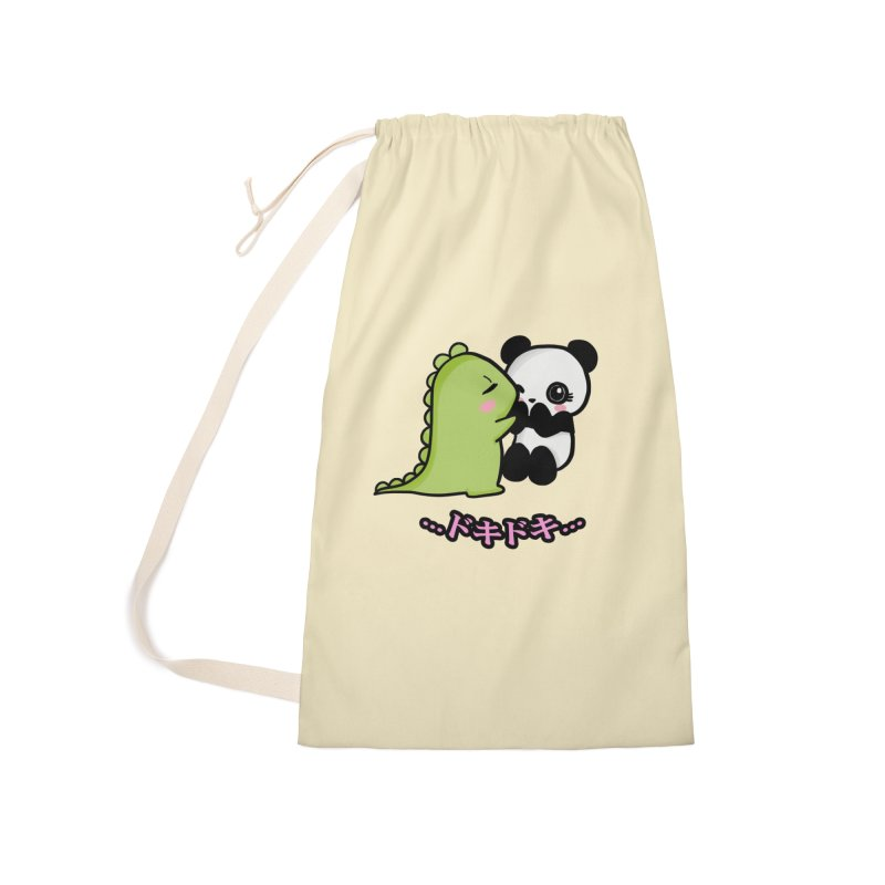 Doki Doki Accessories Laundry Bag Bag by Dino & Panda Inc Artist Shop