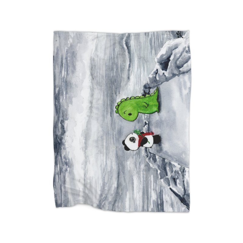 Dino & Panda Goblin Reenactment in Fleece Blanket Blanket by Dino & Panda Inc Artist Shop