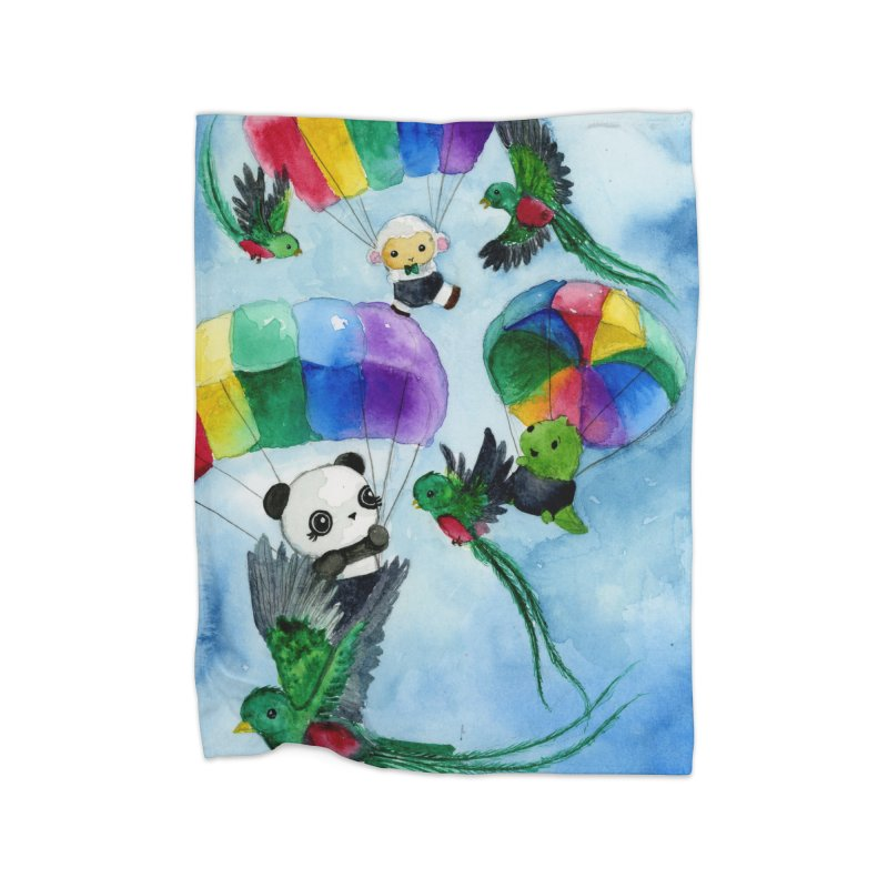 Flying with Quetzals Home Blanket by Dino & Panda Inc Artist Shop