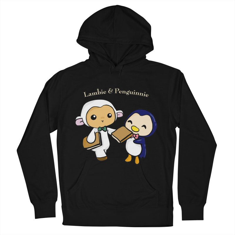Lambie & Penguinnie Men's French Terry Pullover Hoody by Dino & Panda Inc Artist Shop