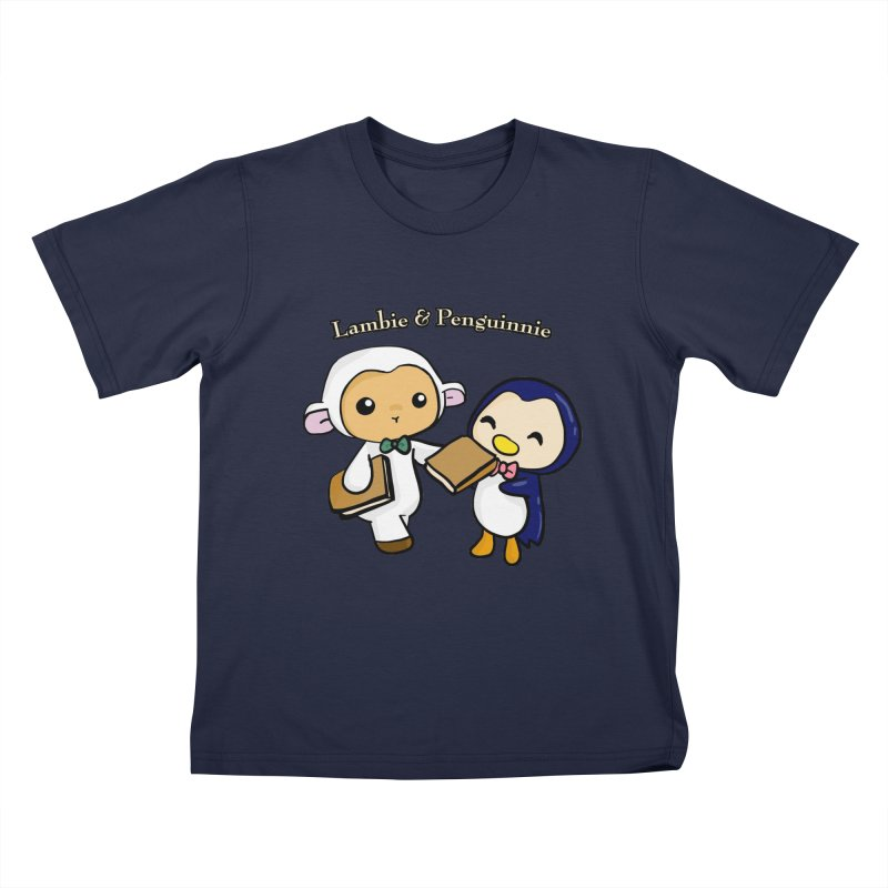 Lambie & Penguinnie Kids Toddler T-Shirt by Dino & Panda Inc Artist Shop