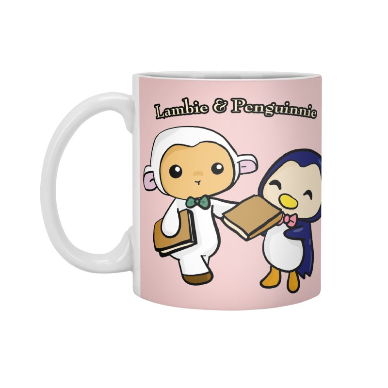 Lambie & Penguinnie Accessories Mug by Dino & Panda Inc Artist Shop