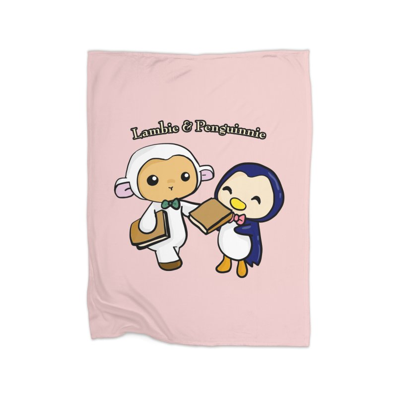 Lambie & Penguinnie Home Blanket by Dino & Panda Inc Artist Shop