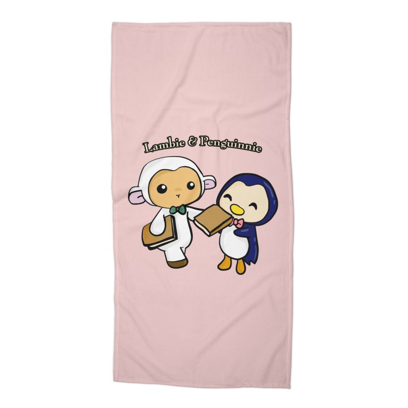 Lambie & Penguinnie Accessories Beach Towel by Dino & Panda Inc Artist Shop