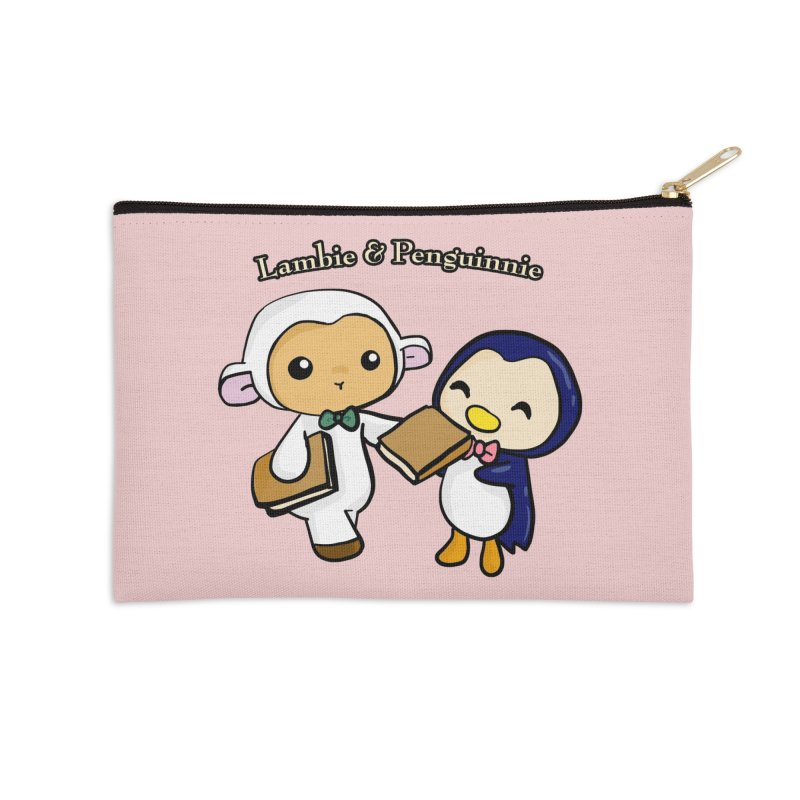 Lambie & Penguinnie Accessories Zip Pouch by Dino & Panda Inc Artist Shop