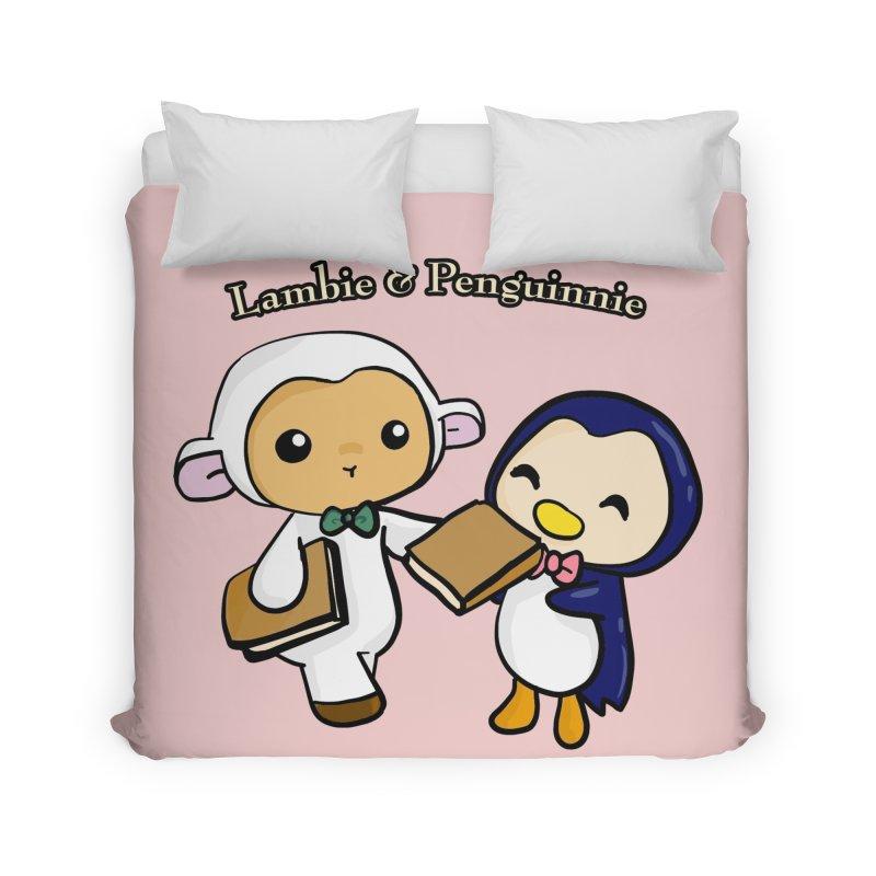 Lambie & Penguinnie Home Duvet by Dino & Panda Inc Artist Shop