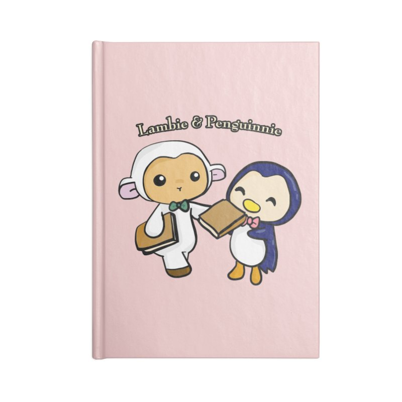 Lambie & Penguinnie Accessories Lined Journal Notebook by Dino & Panda Inc Artist Shop