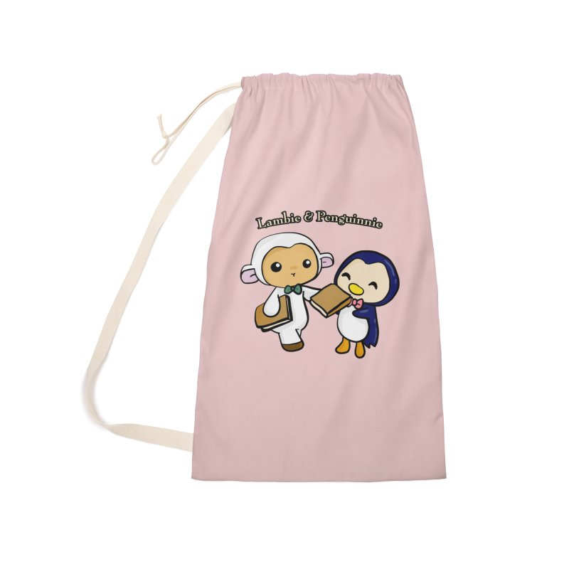 Lambie & Penguinnie Accessories Laundry Bag Bag by Dino & Panda Inc Artist Shop