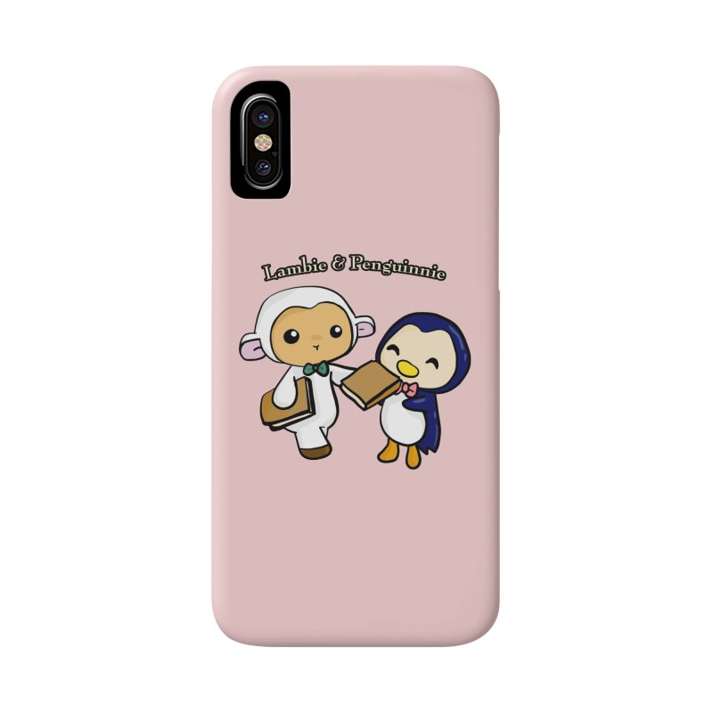 Lambie & Penguinnie Accessories Phone Case by Dino & Panda Inc Artist Shop