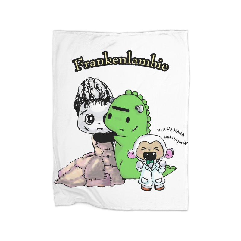 Frankenlambie  Home Fleece Blanket Blanket by Dino & Panda Inc Artist Shop