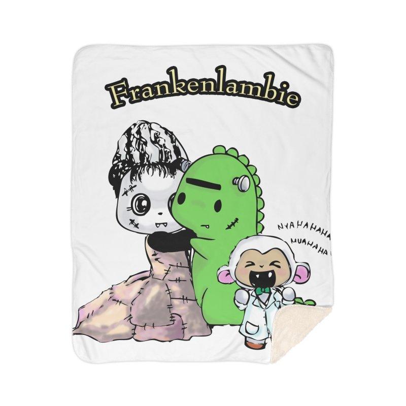 Frankenlambie  Home Sherpa Blanket Blanket by Dino & Panda Inc Artist Shop