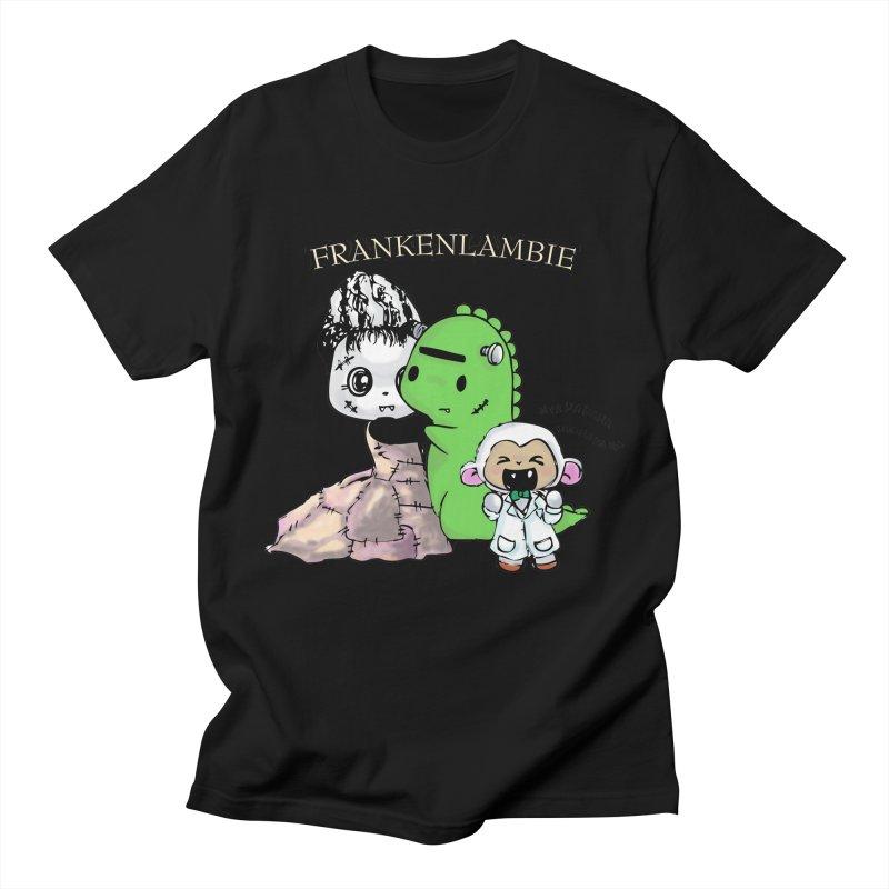 Frankenlambie  Men's T-Shirt by Dino & Panda Artist Shop