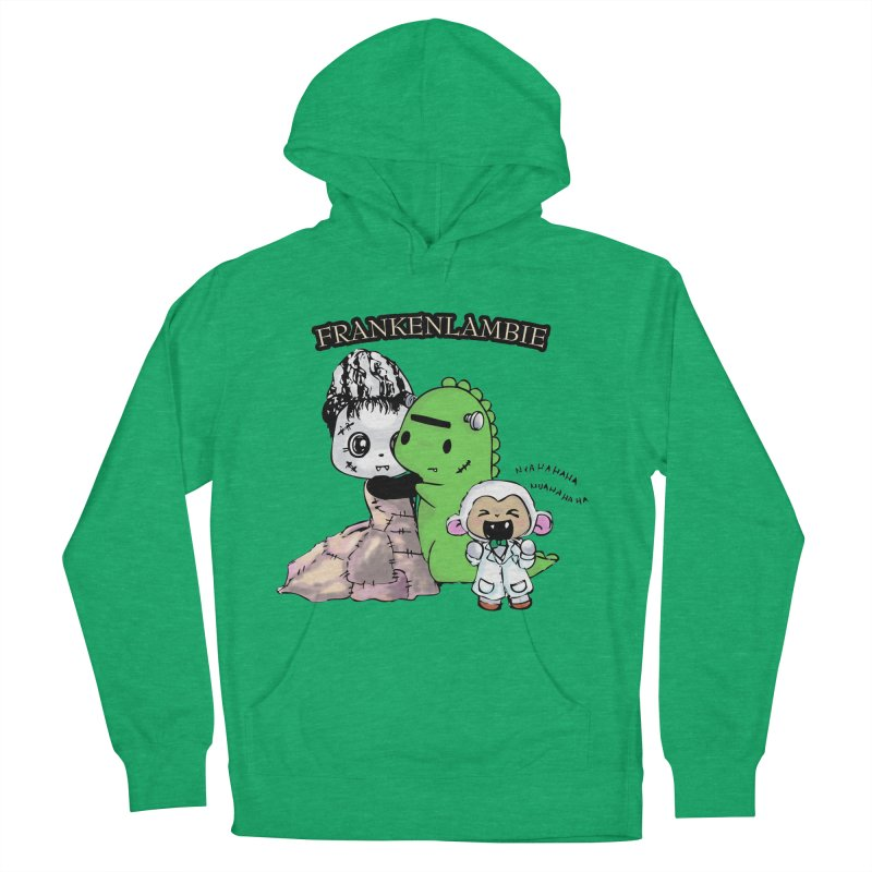 Frankenlambie  Men's French Terry Pullover Hoody by Dino & Panda Inc Artist Shop