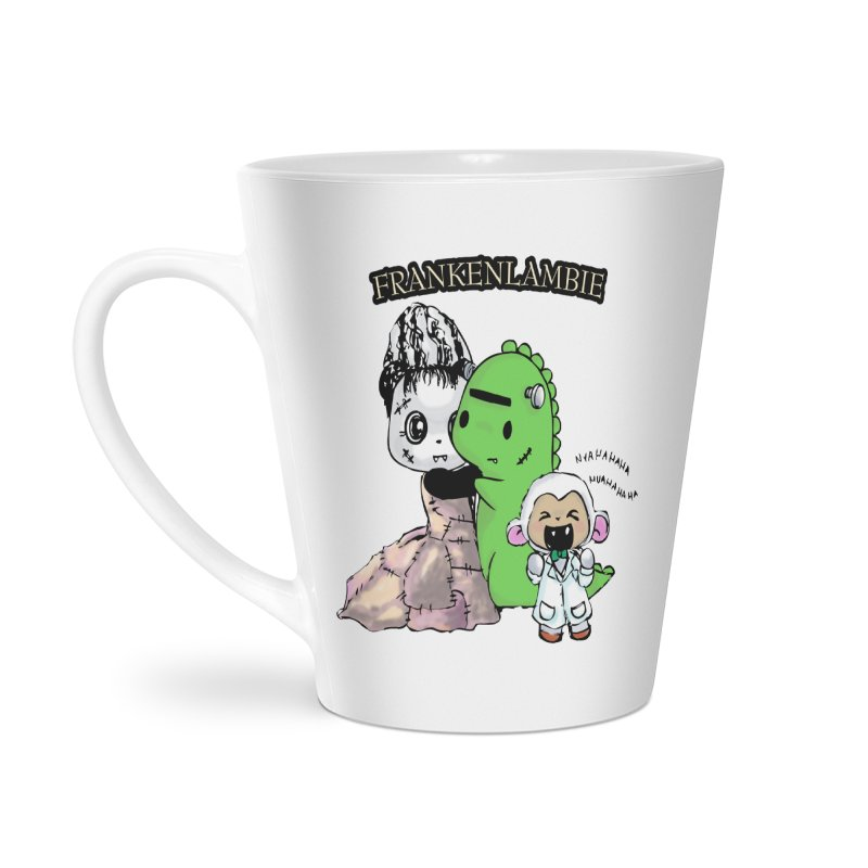 Frankenlambie  Accessories Latte Mug by Dino & Panda Inc Artist Shop