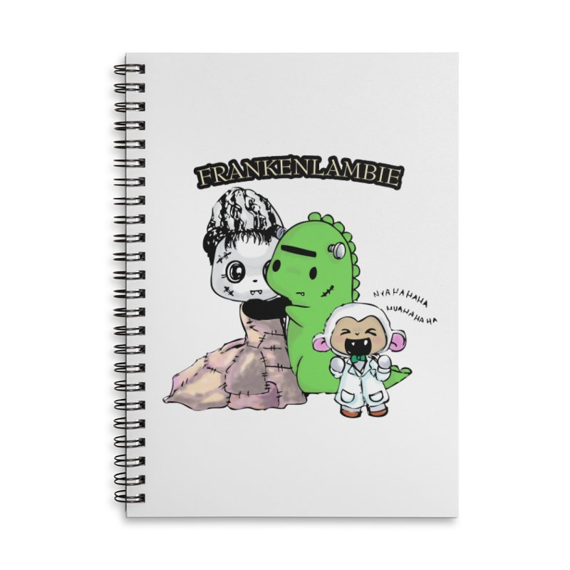 Frankenlambie  Accessories Lined Spiral Notebook by Dino & Panda Inc Artist Shop