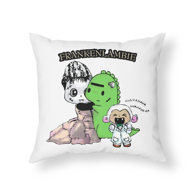Frankenlambie  Home Throw Pillow by Dino & Panda Inc Artist Shop