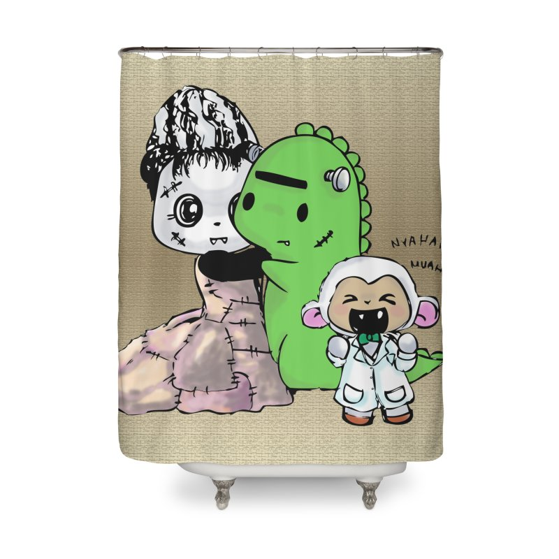 Frankenlambie  Home Shower Curtain by Dino & Panda Inc Artist Shop