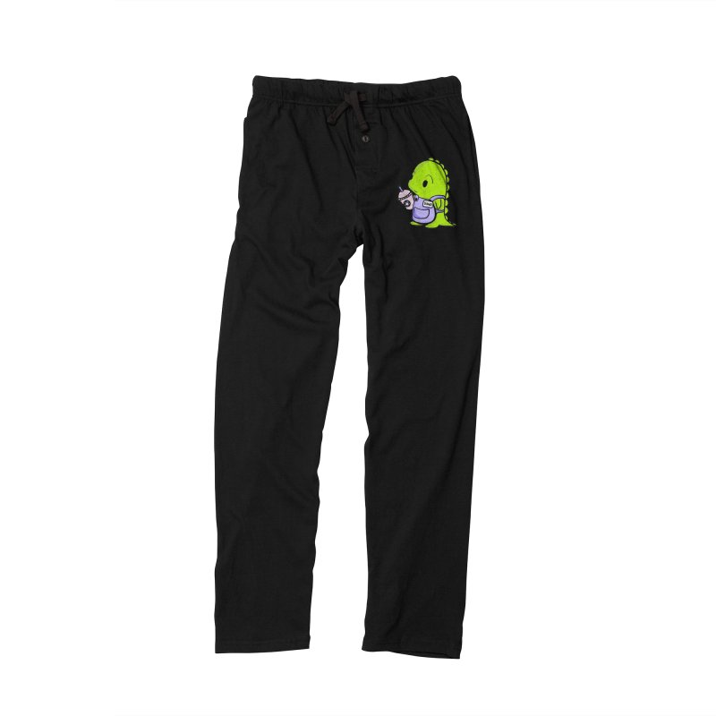 Barista Dino Men's Lounge Pants by Dino & Panda Inc Artist Shop