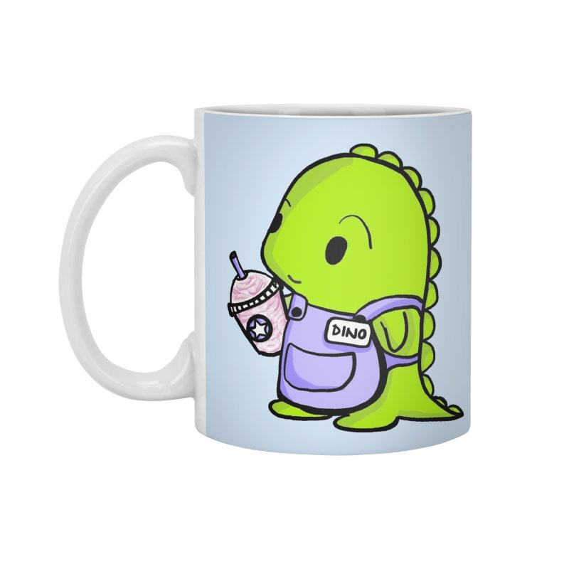 Barista Dino Accessories Mug by Dino & Panda Inc Artist Shop