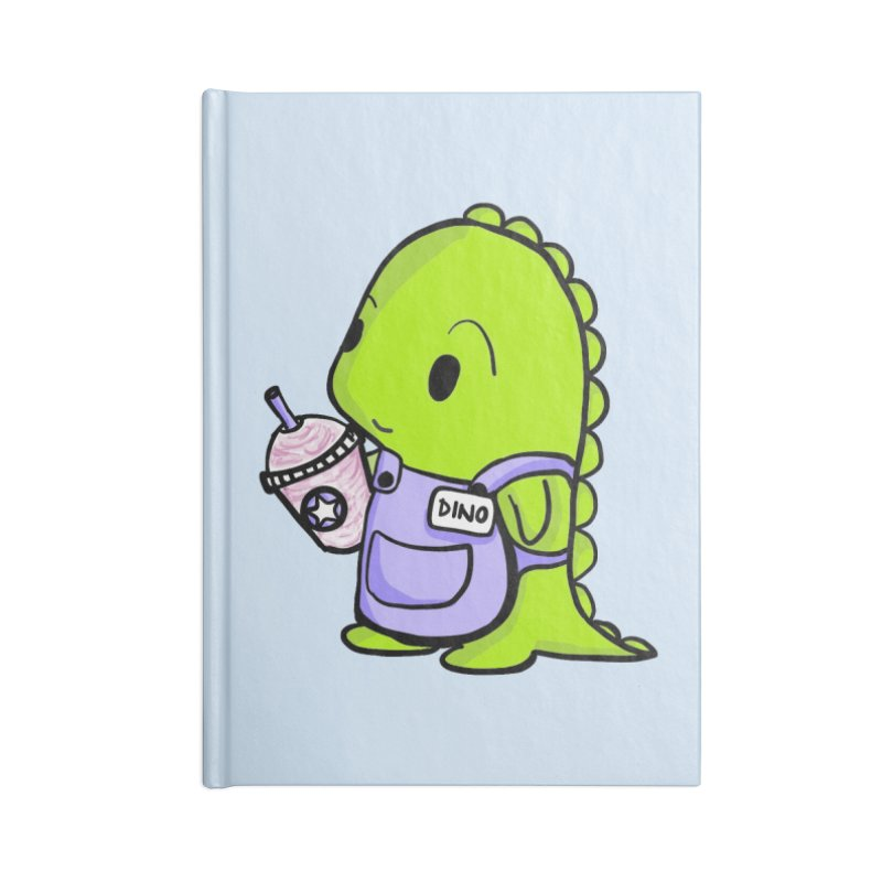 Barista Dino Accessories Lined Journal Notebook by Dino & Panda Inc Artist Shop