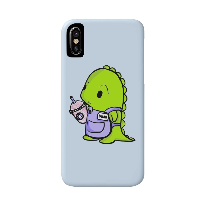 Barista Dino Accessories Phone Case by Dino & Panda Inc Artist Shop