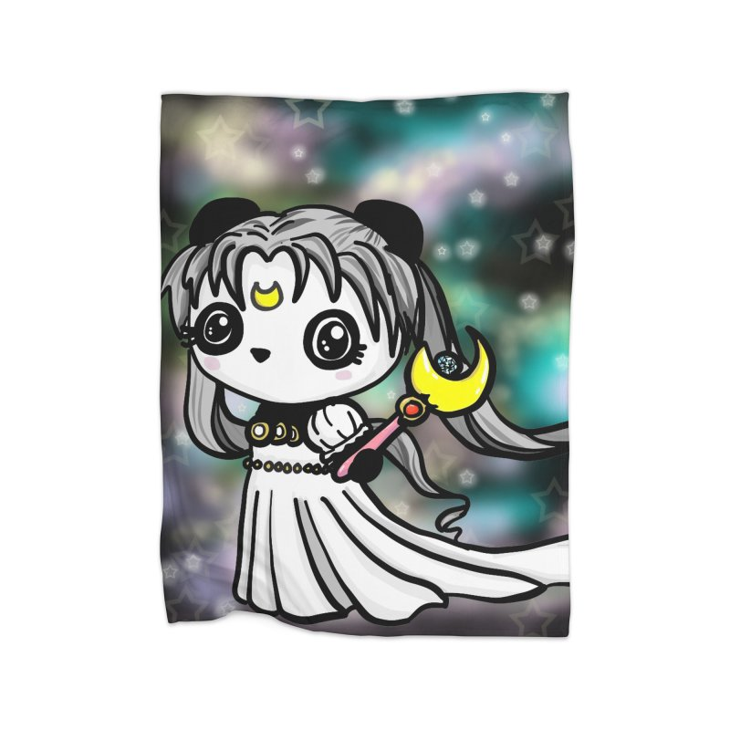Princess Panda Serenity Home Fleece Blanket Blanket by Dino & Panda Inc Artist Shop