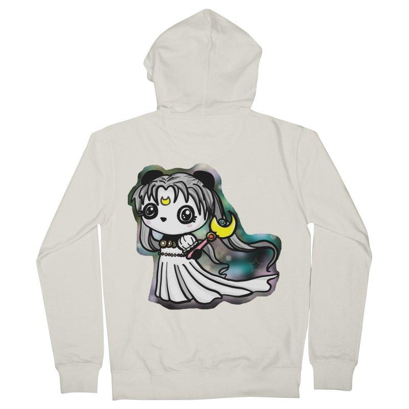 Princess Panda Serenity Men's French Terry Zip-Up Hoody by Dino & Panda Inc Artist Shop