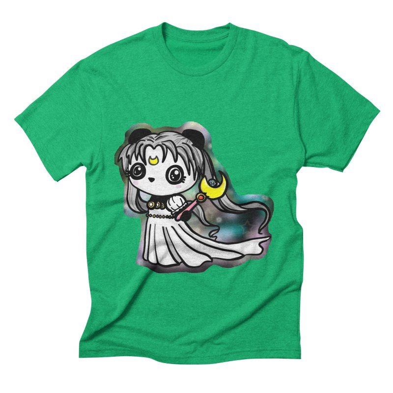 Princess Panda Serenity Men's Triblend T-Shirt by Dino & Panda Inc Artist Shop