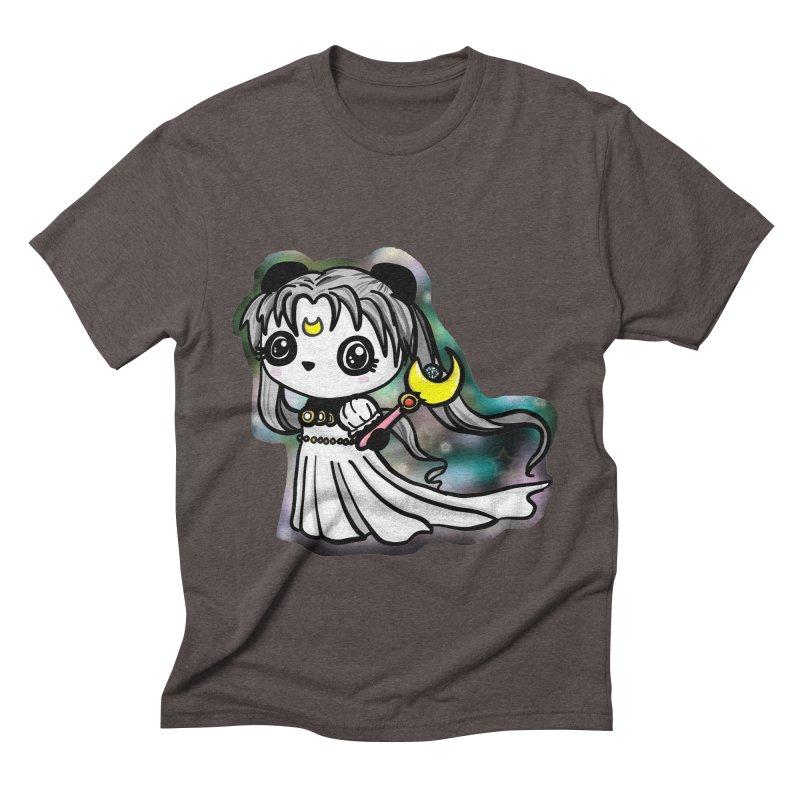 Princess Panda Serenity Men's Triblend T-Shirt by Dino & Panda Inc Artist Shop