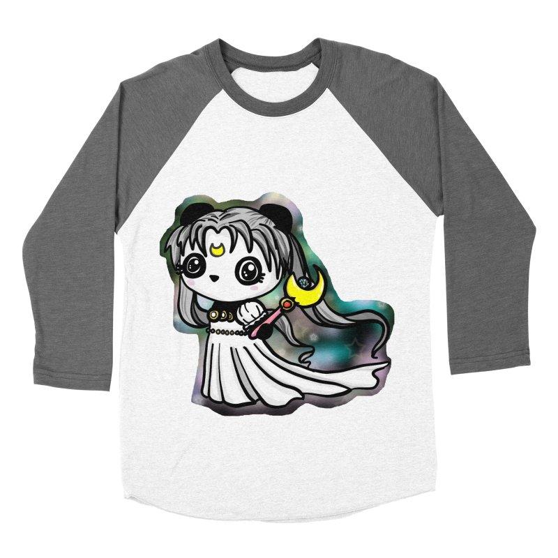 Princess Panda Serenity Men's Baseball Triblend T-Shirt by Dino & Panda Inc Artist Shop