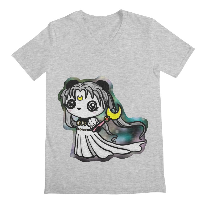 Princess Panda Serenity Men's Regular V-Neck by Dino & Panda Inc Artist Shop