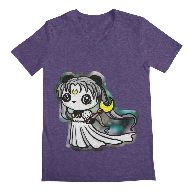 Princess Panda Serenity Men's V-Neck by Dino & Panda Inc Artist Shop