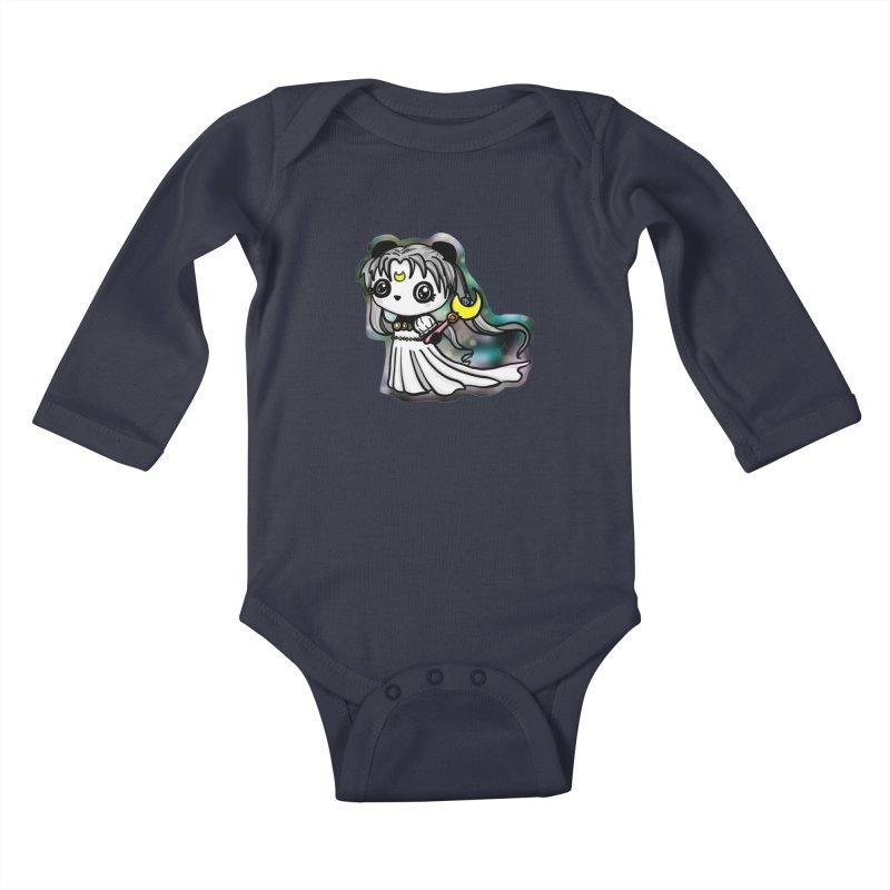 Princess Panda Serenity Kids Baby Longsleeve Bodysuit by Dino & Panda Inc Artist Shop