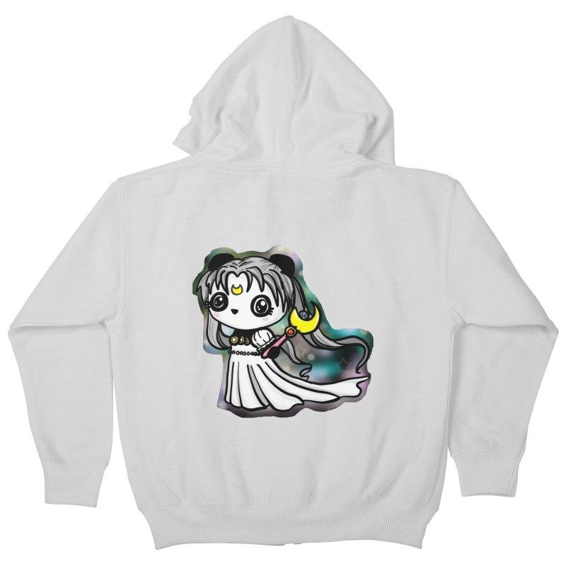 Princess Panda Serenity Kids Zip-Up Hoody by Dino & Panda Inc Artist Shop