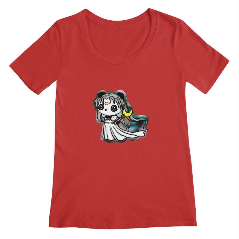 Princess Panda Serenity Women's Scoop Neck by Dino & Panda Inc Artist Shop