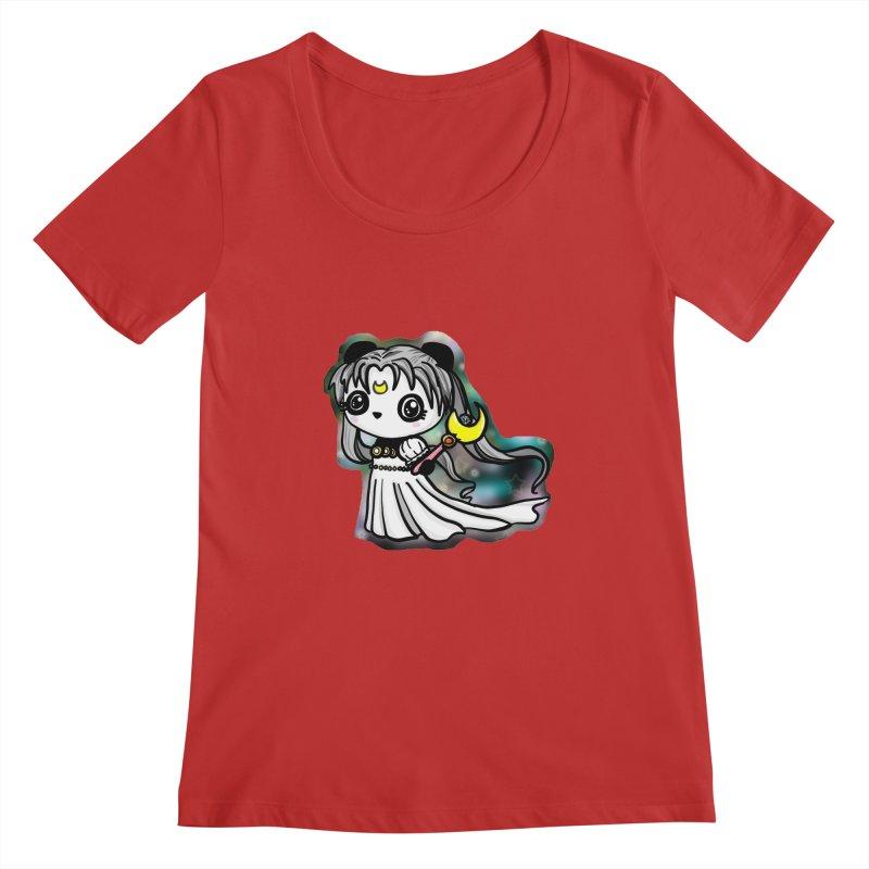 Princess Panda Serenity Women's Scoopneck by Dino & Panda Inc Artist Shop