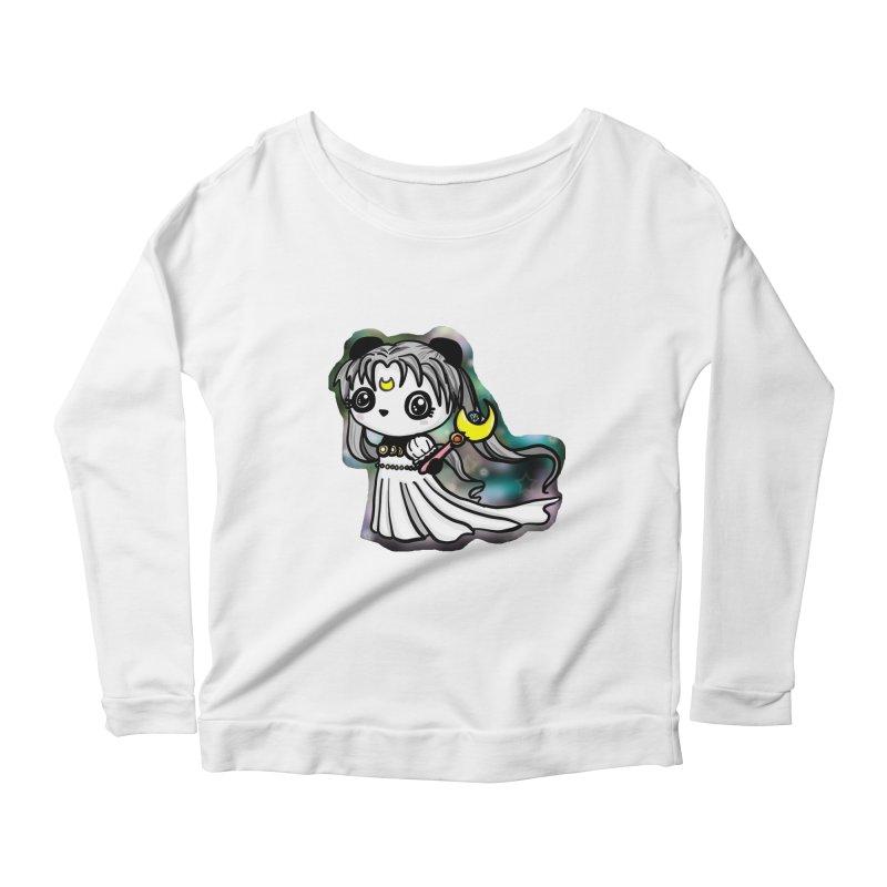 Princess Panda Serenity Women's Scoop Neck Longsleeve T-Shirt by Dino & Panda Inc Artist Shop