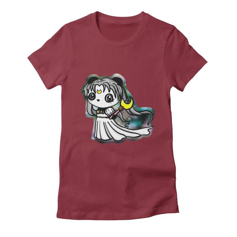 Princess Panda Serenity Women's Fitted T-Shirt by Dino & Panda Inc Artist Shop